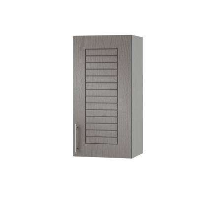 Assembled 12x30x12 in. Key West Open Back Outdoor Kitchen Wall Cabinet with 1 Door Right in Rustic Gray