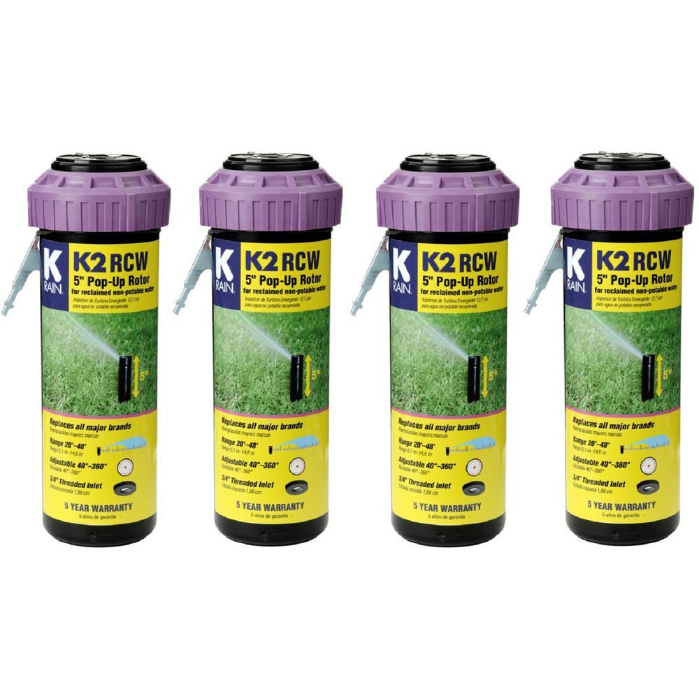 K2 Smartset Reclaim Water Adjustable Pattern 5 in. Gear Drive Sprinkler (4-Pack)
