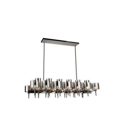 Montoya 26-Light Pearl Black Chandelier