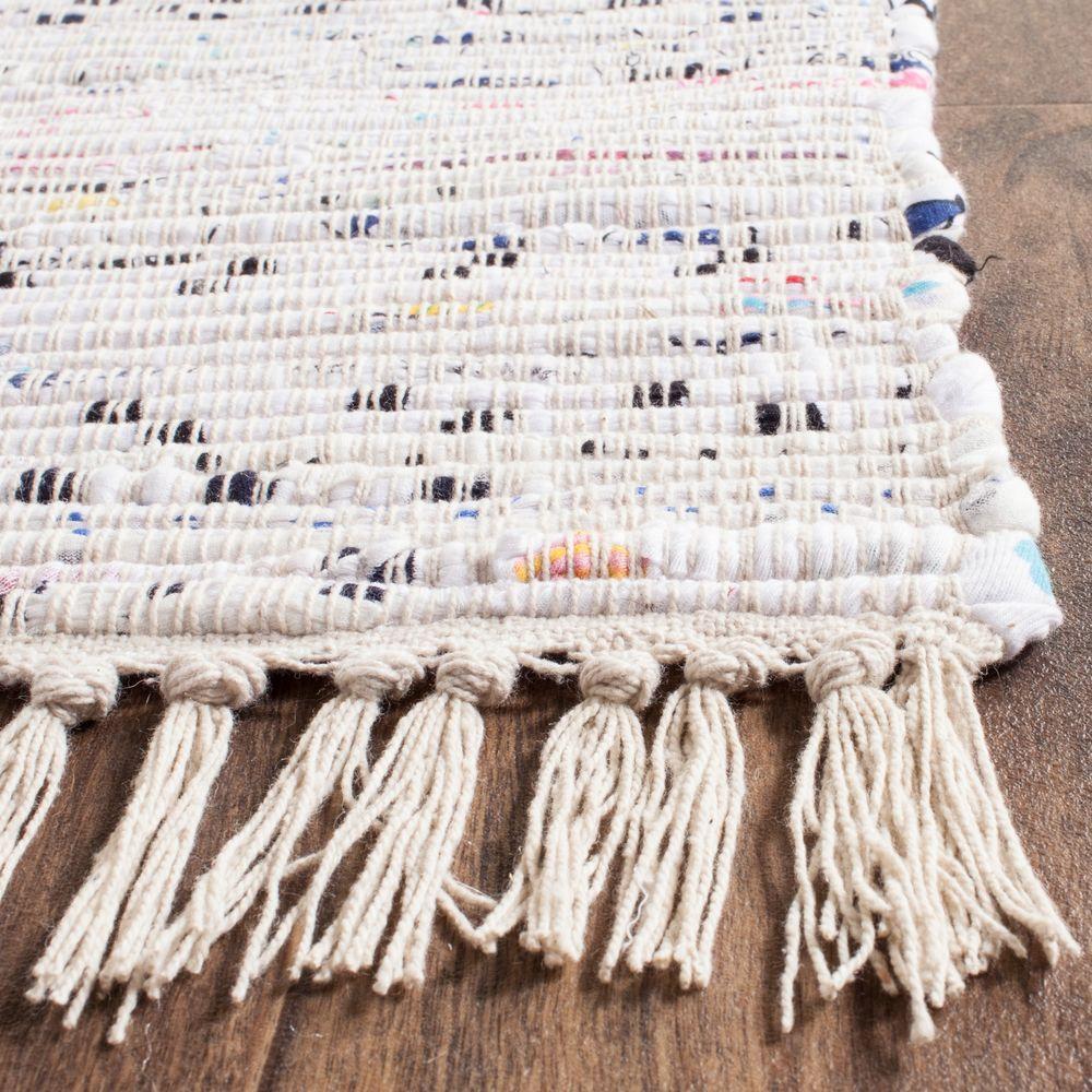 Safavieh Rag Rug Ivory/Multi 6 ft. x 6 ft. Square Area Rug