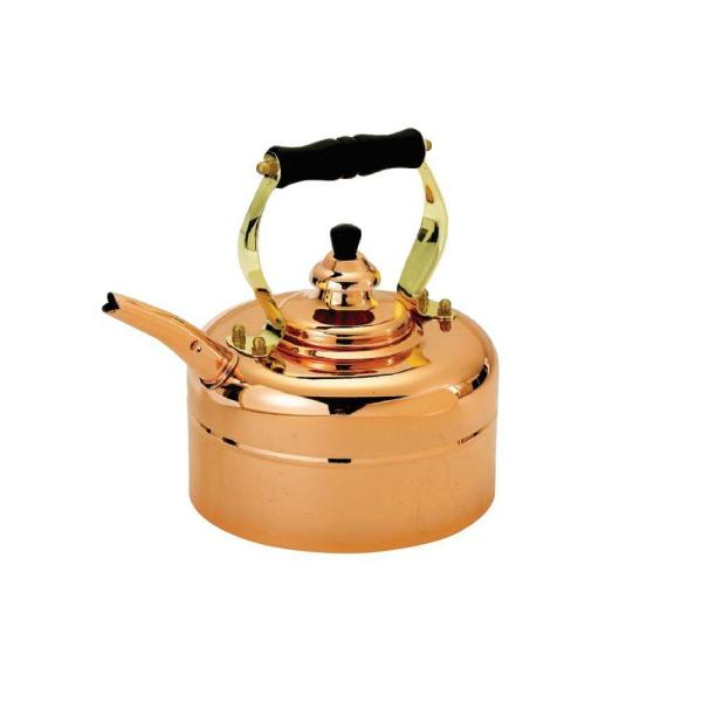 Old Dutch 3 Qt. Tri-Ply Windsor Whistling Teakettle in Copper