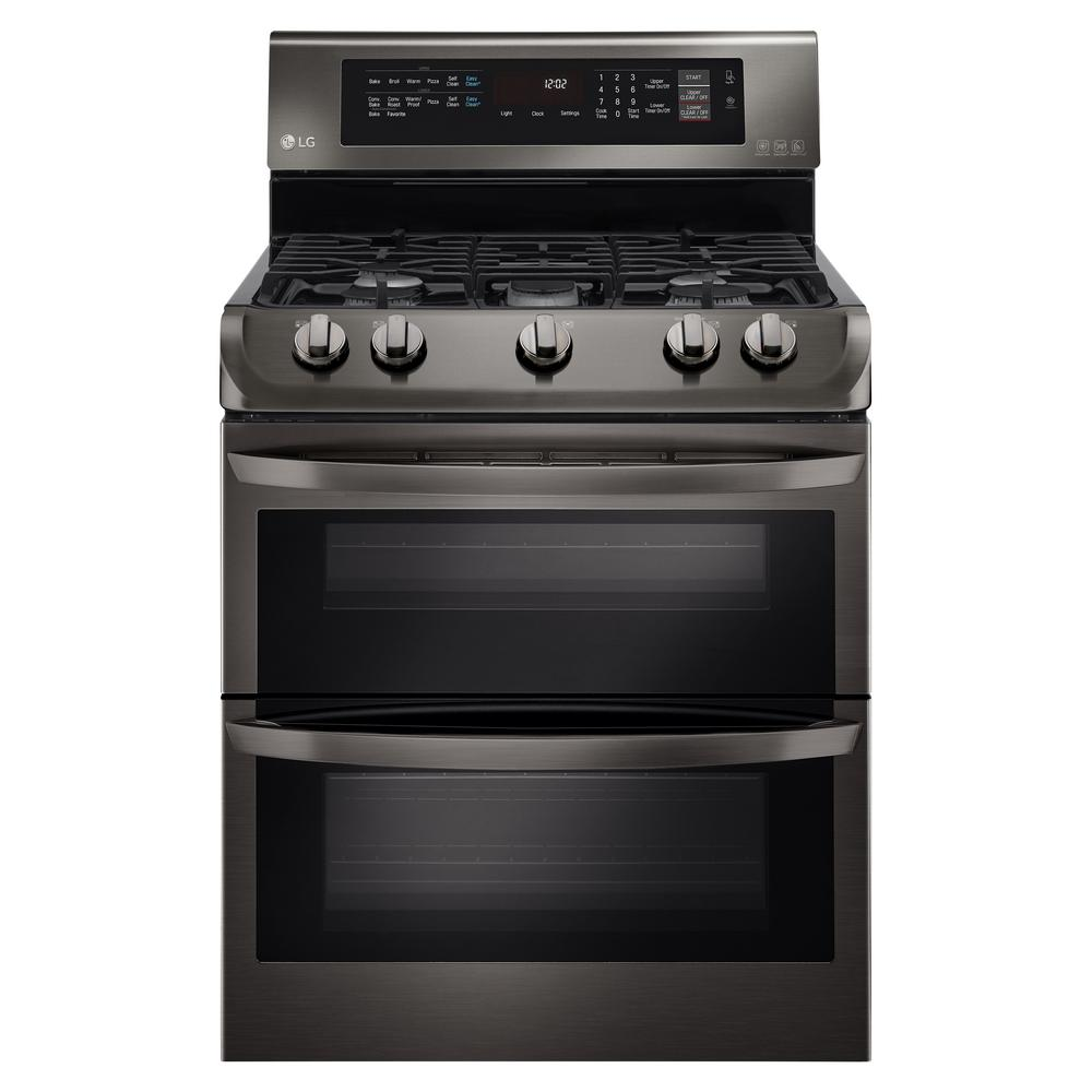 Gas Convection Oven ~ Lg electronics cu ft double oven gas range with