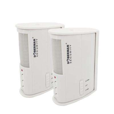 Motion Detector Alarm/Chime, White (2-Pack)