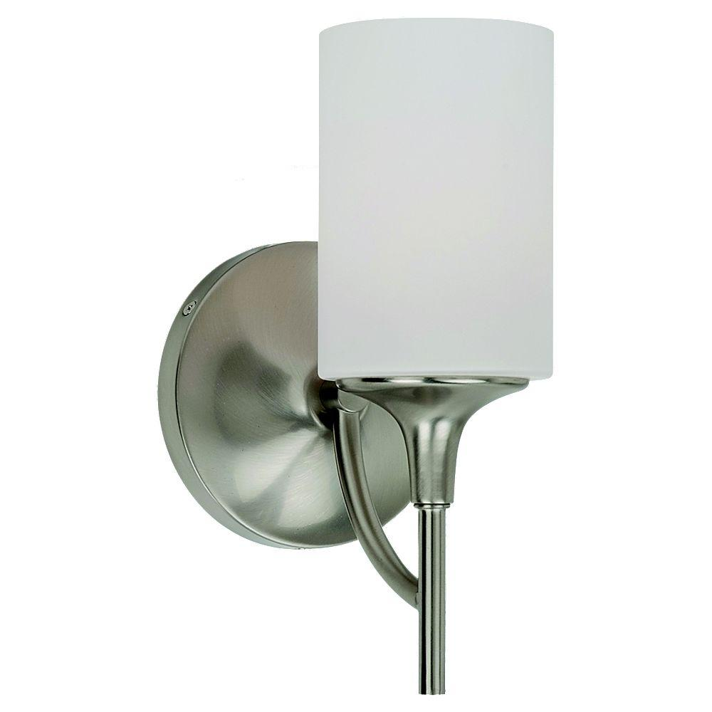Sea Gull Lighting Stirling 1-Light Brushed Nickel Sconce