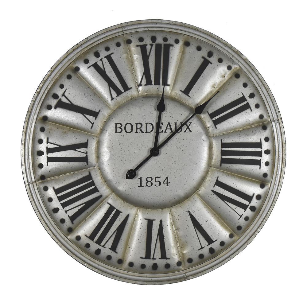 c311ed935 Habitat Pherius Tin Clock X83333J - The Home Depot