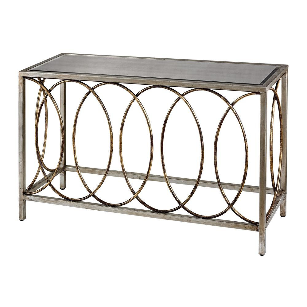 Titan lighting rings bakewell gold and silver with mirrored top titan lighting rings bakewell gold and silver with mirrored top console table geotapseo Image collections