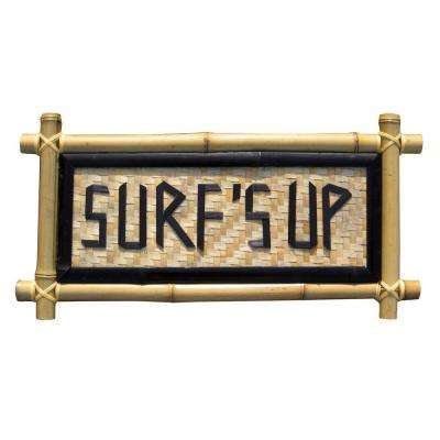 24 in. x 12 in. Surf's Up Bamboo Sign