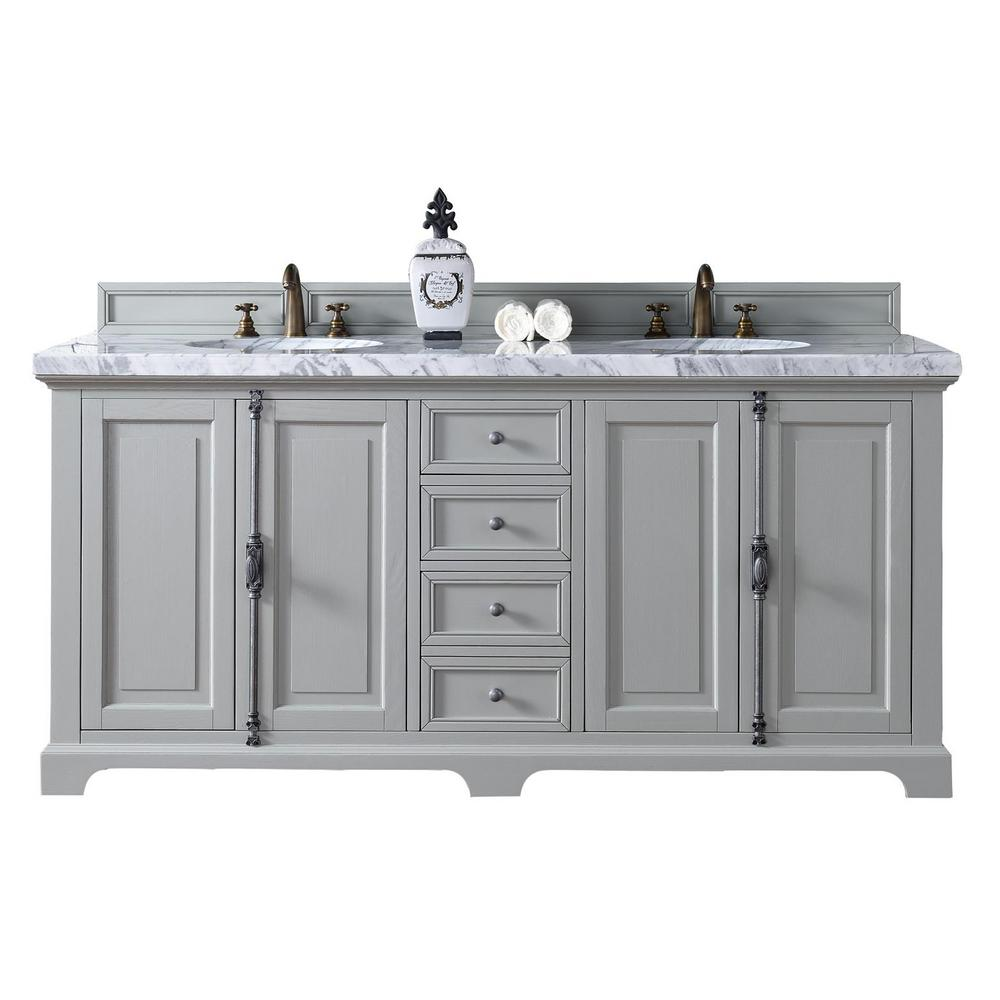 James Martin Signature Vanities Providence 72 in. W Double ...