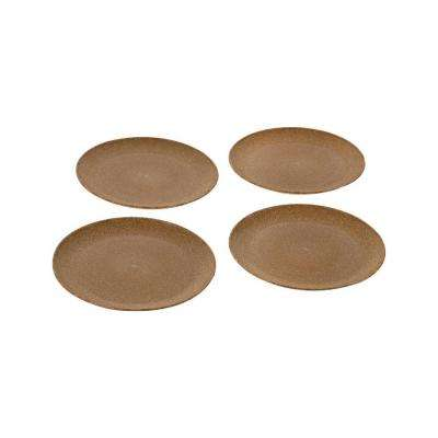 EVO Sustainable Goods 8 in. Light Brown Eco-Friendly Wood-Plastic Composite Plate (Set of 4)