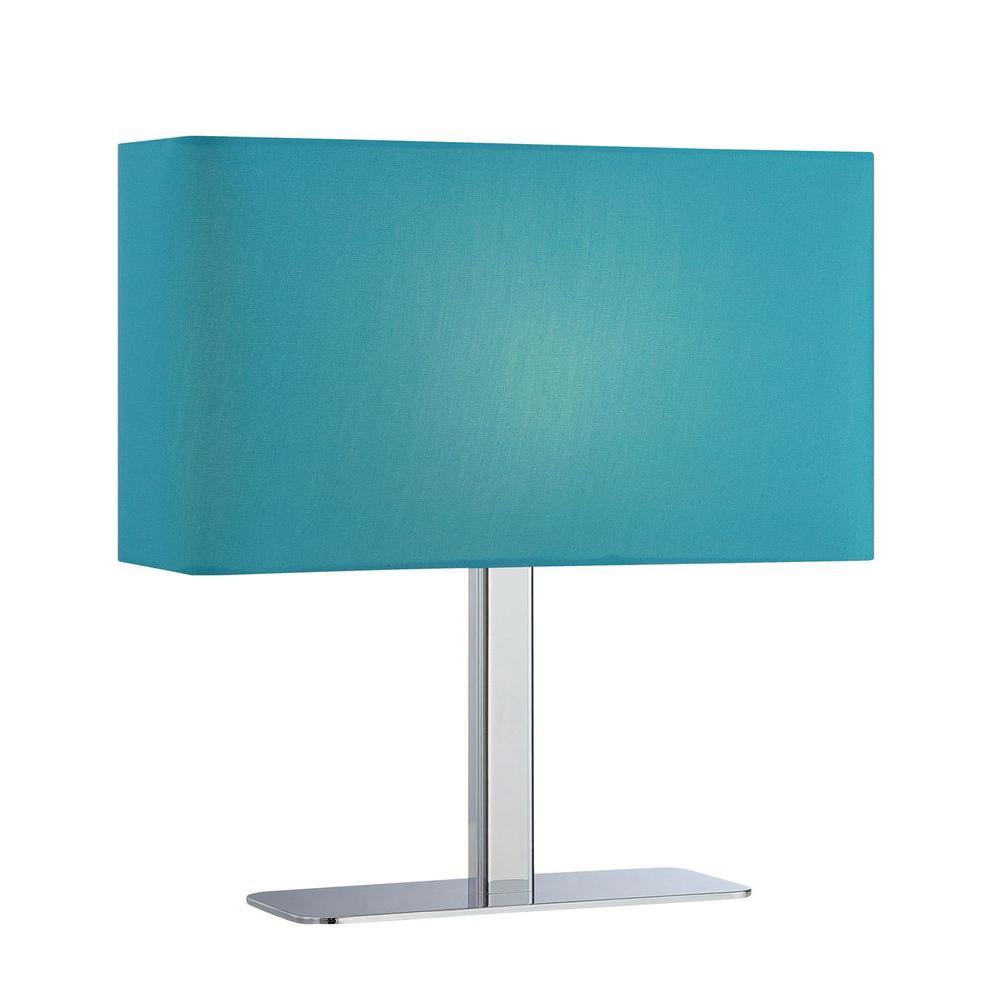 Illumine 15.3 in. Chrome Table Lamp