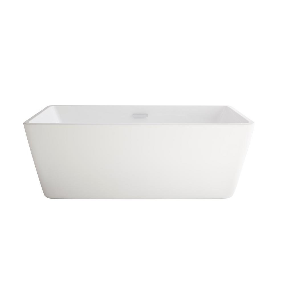 American standard sedona loft 62 75 in acrylic flatbottom non whirlpool bathtub in white