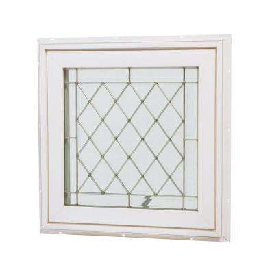 24 in. x 24 in. Awning Vinyl Window - White