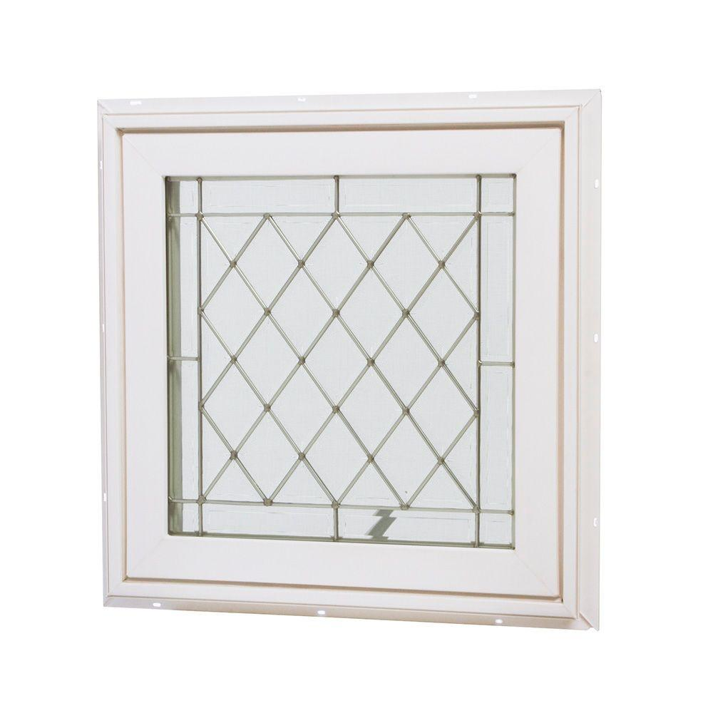 Tafco windows 12 in x in jalousie utility louver for Vinyl home windows