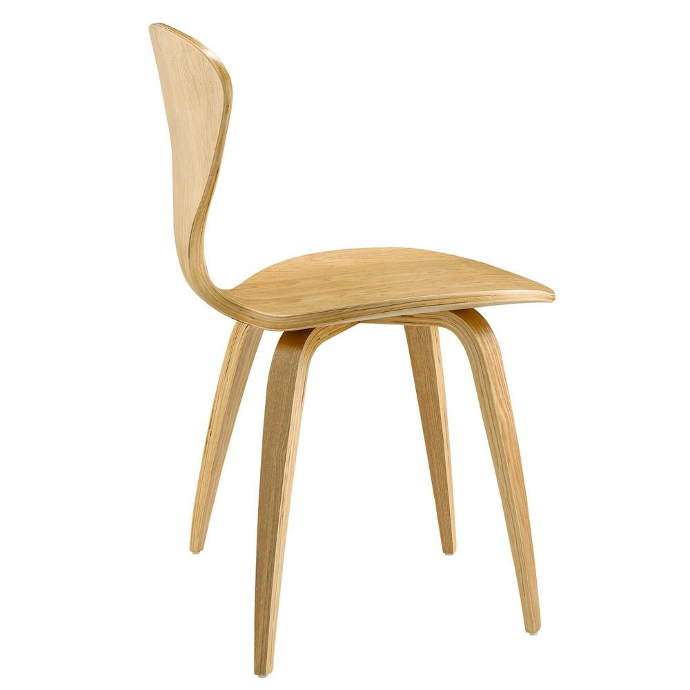 Natural wooden side dining chair fmi the