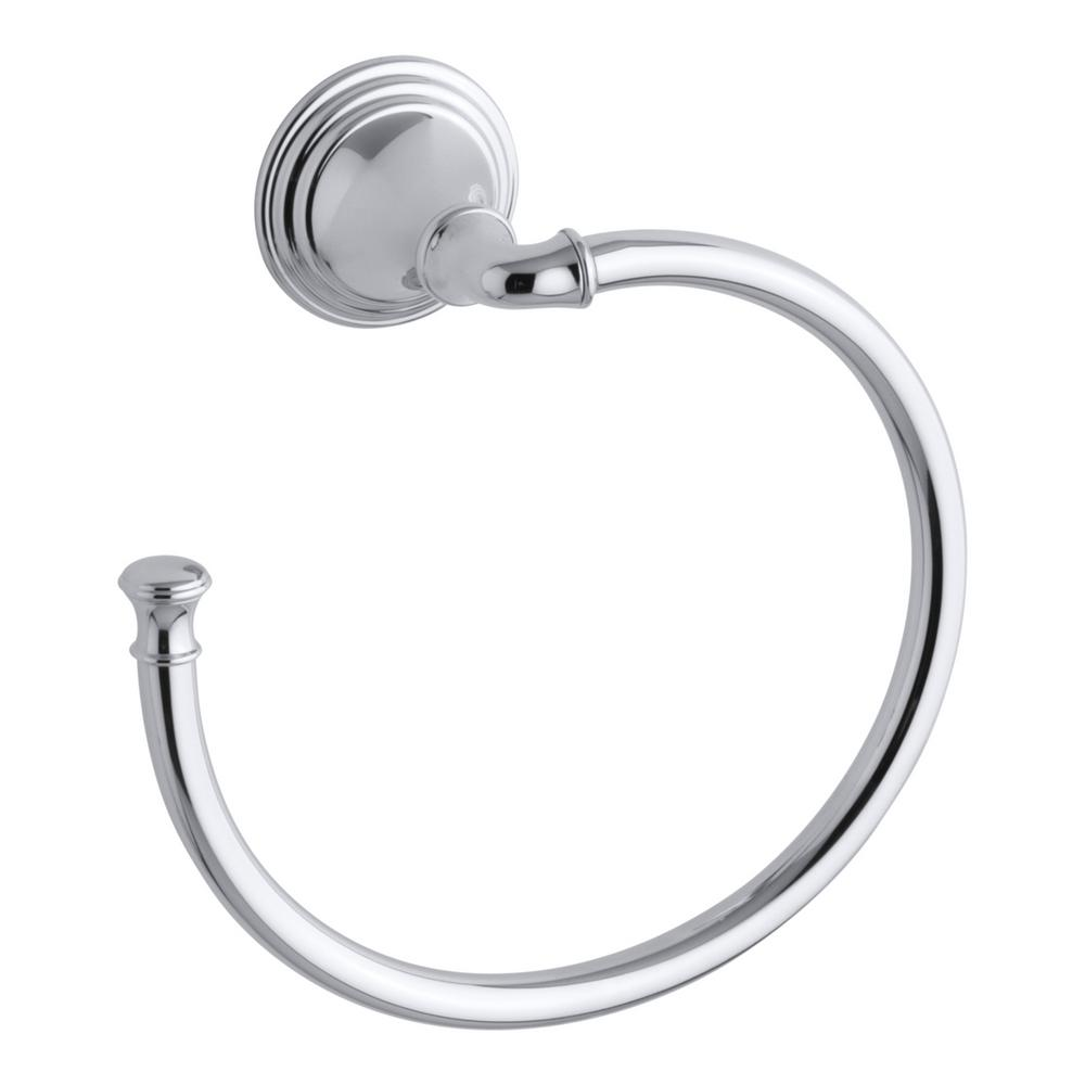 Devonshire Towel Ring in Polished Chrome