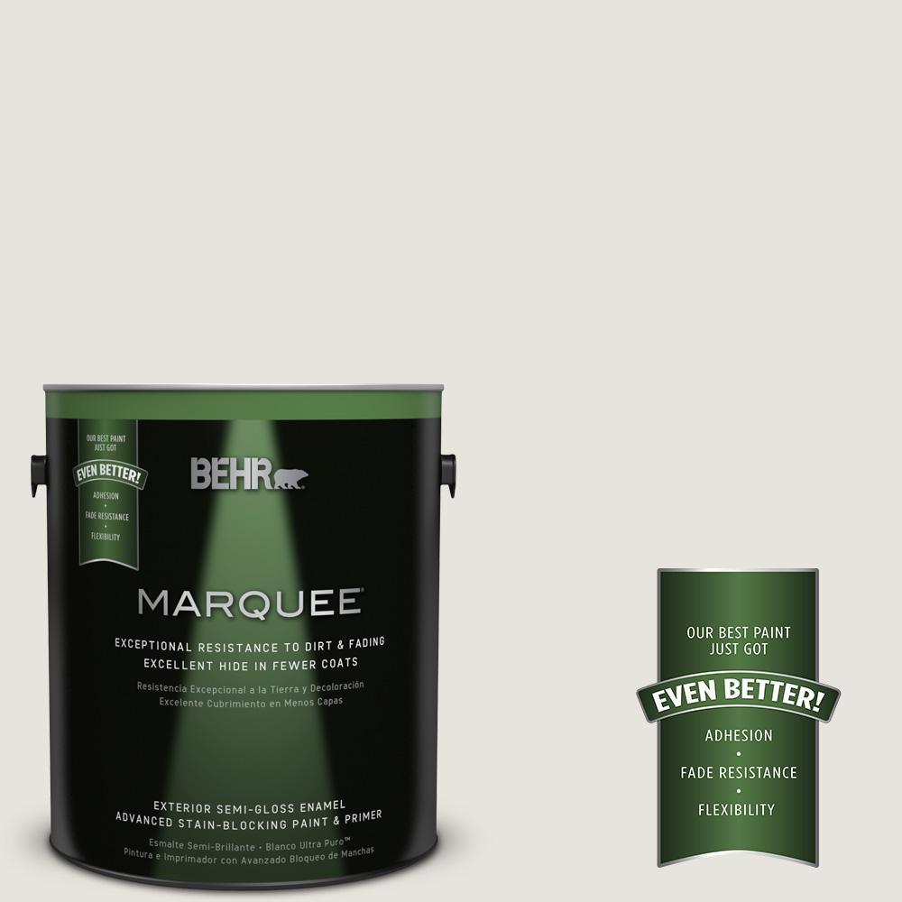 1 gal. #PPU24-13 White Pepper Semi-Gloss Enamel Exterior Paint