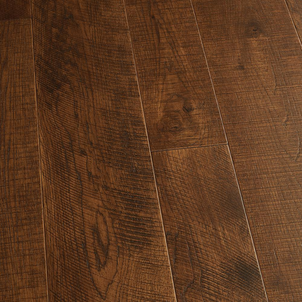 Malibu Wide Plank Hickory Sunset 1 2 In Thick X 5 In And 7 In Wide X Varying Length Engineered Hardwood Flooring 24 93 Sq Ft Case Hdmstg353ef The Home Depot