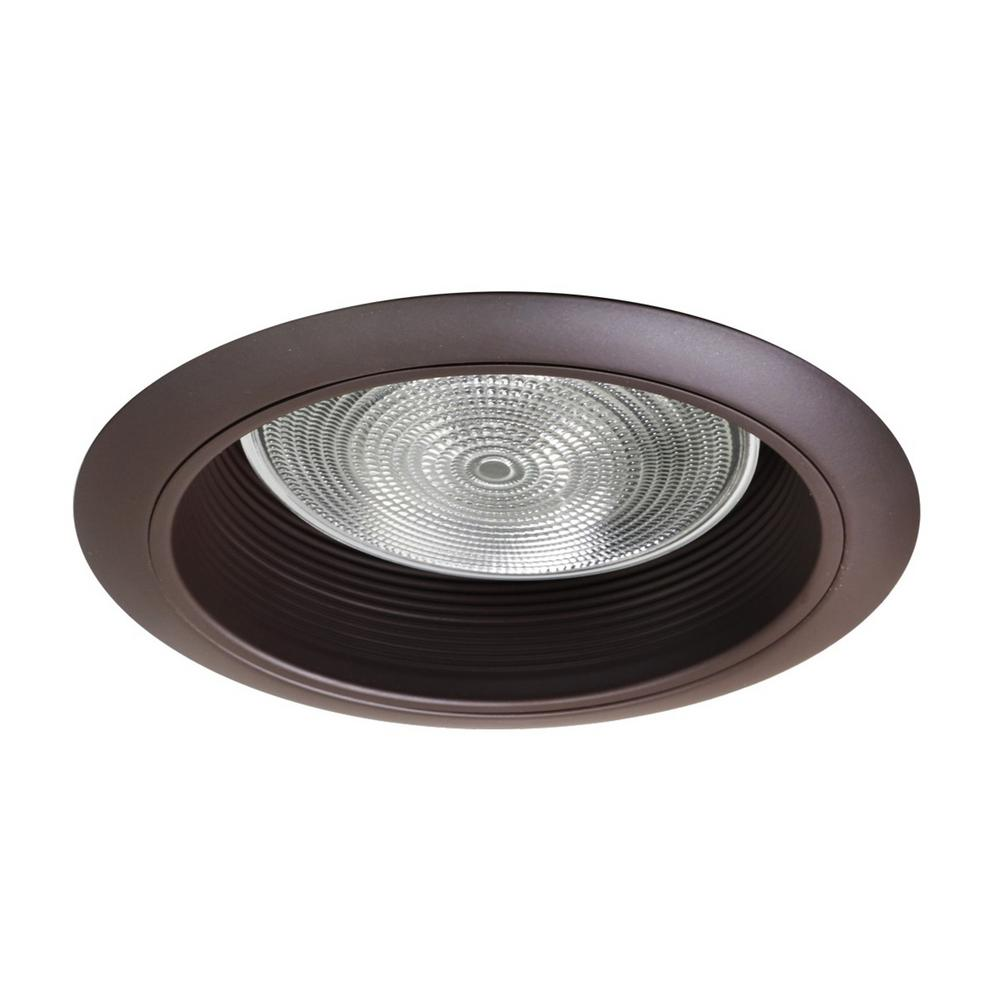 null NICOR 6 in. Oil Rubbed Bronze Recessed Baffle Trim
