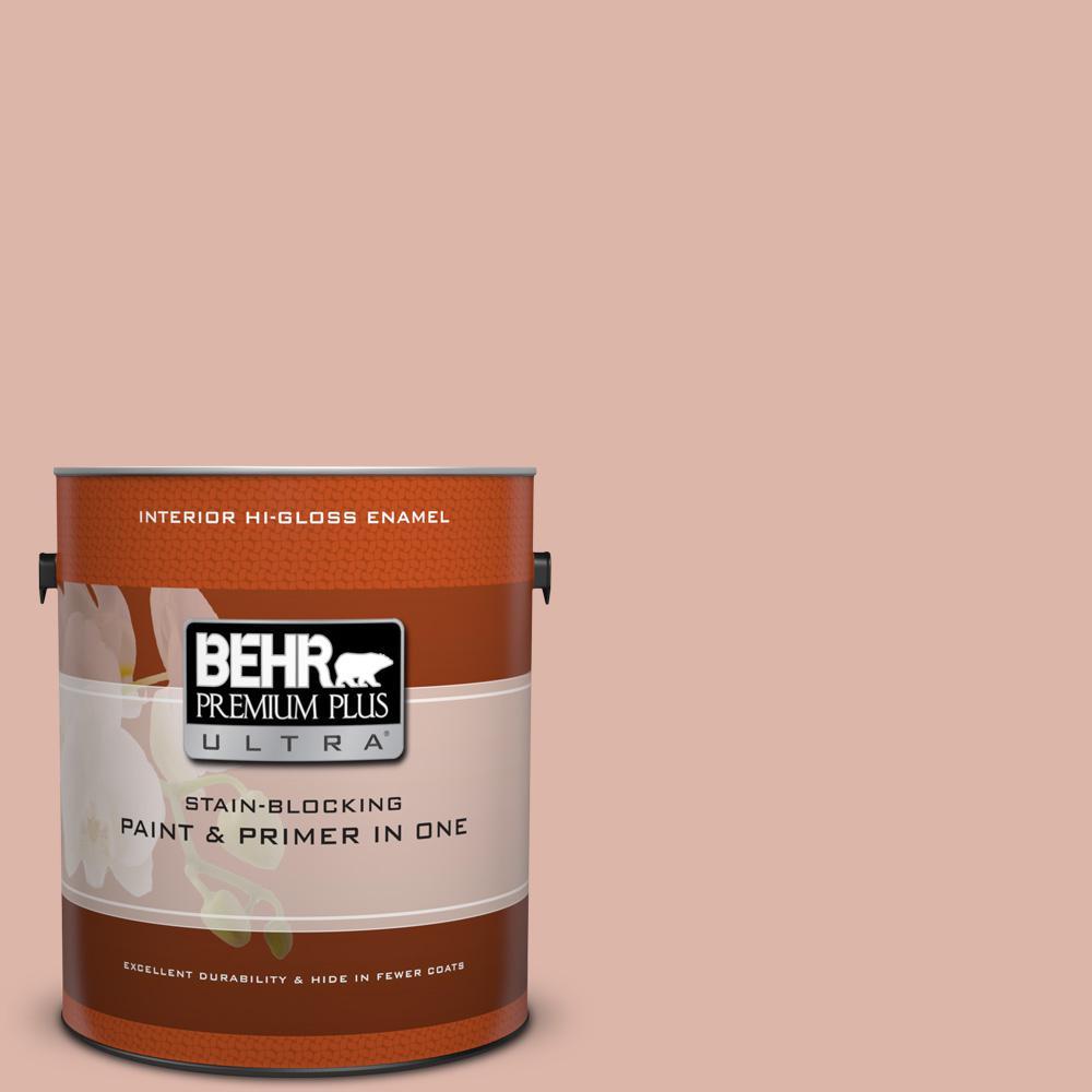 1 gal. #220E-3 Melted Ice Cream Hi-Gloss Enamel Interior Paint