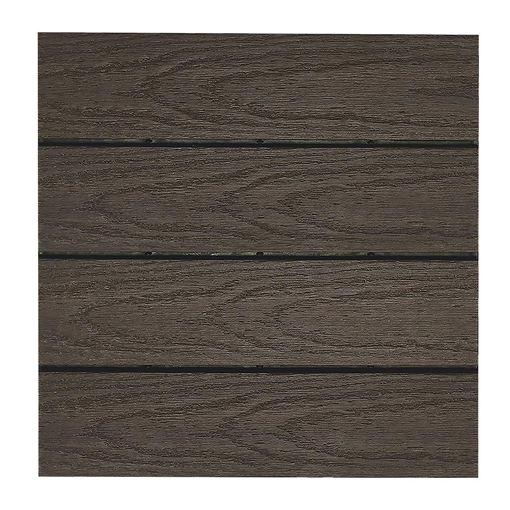 10 sq. ft. per Box NewTechWood US-QD-ZX-WN Ultra Shield Natural x 1 Quick Outdoor Composite Deck Tiles in Spanish Walnut