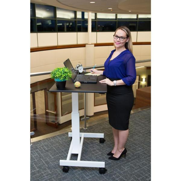 Luxor Black Laptop Desk with Wheels