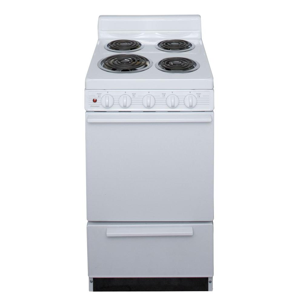 Electric Kitchen Stoves At Home Depot ~ Premier in cu ft electric range white