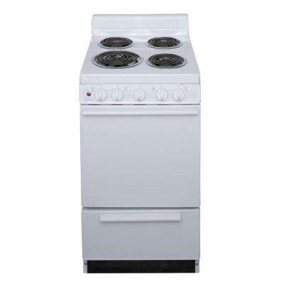 20 in. 2.42 cu. ft. Electric Range in White