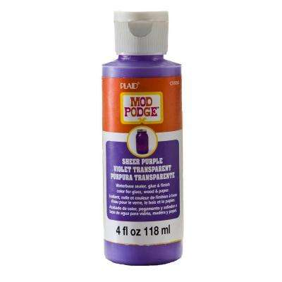 Sheer Colors 4 oz. Purple Transparent Paint