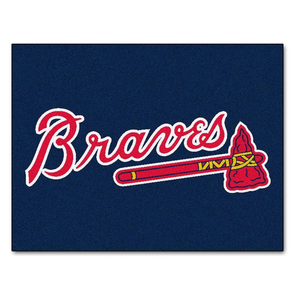 MLB Atlanta Braves Blue 2 ft. 10 in. x 3 ft.