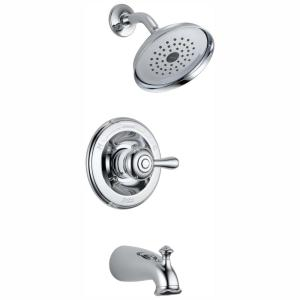 Leland 1-Handle Tub and Shower Faucet in Chrome (Valve Included)