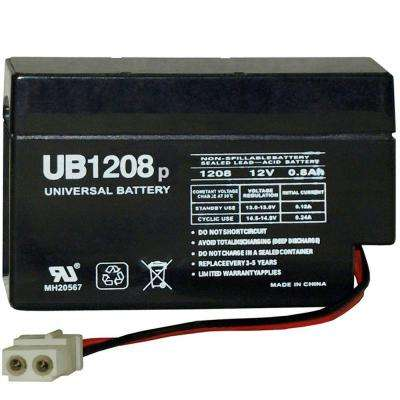 12v .08 Ah Amp connector AGM Battery
