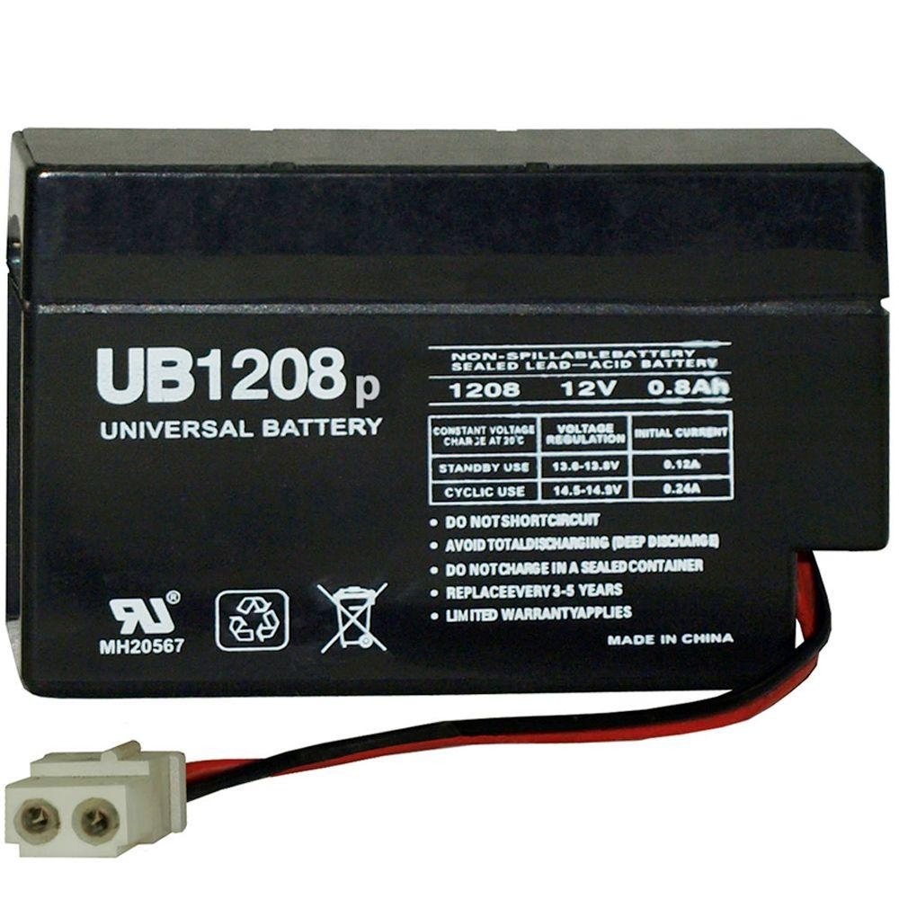 upg sla 12 volt wl wire lead terminal battery ub1208 the home depot. Black Bedroom Furniture Sets. Home Design Ideas