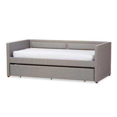 Raymond Contemporary Gray Fabric Upholstered Twin Size Daybed
