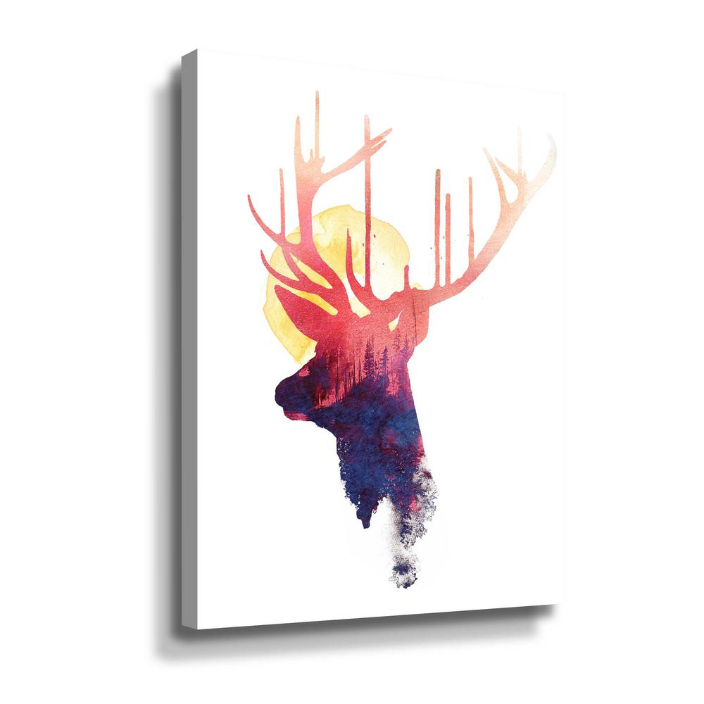 'The burning sun' by Robert Farkas Canvas Wall Art