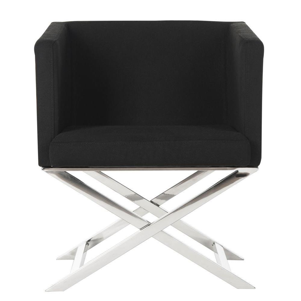 Safavieh Celine Black Dacron Arm Chair