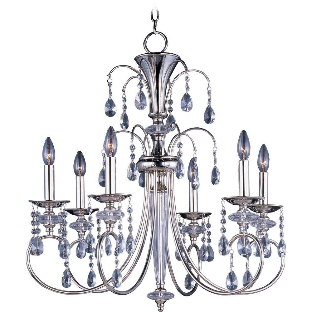 Montgomery 6-Light Polished Nickel Chandelier