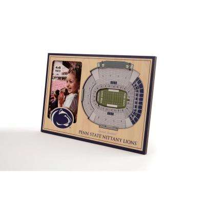 NCAA Penn State Nittany Lions Team Colored 3D StadiumView with 4 in. x 6 in. Picture Frame