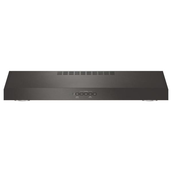 30 in. Convertible Under the Cabinet Range Hood with Light in Black Stainless Steel, Fingerprint Resistant