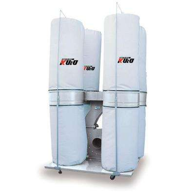 10 HP 6,450 CFM 3-Phase 220-Volt / 440-Volt Vertical Bag Dust Collector (Prewired 220-Volt)