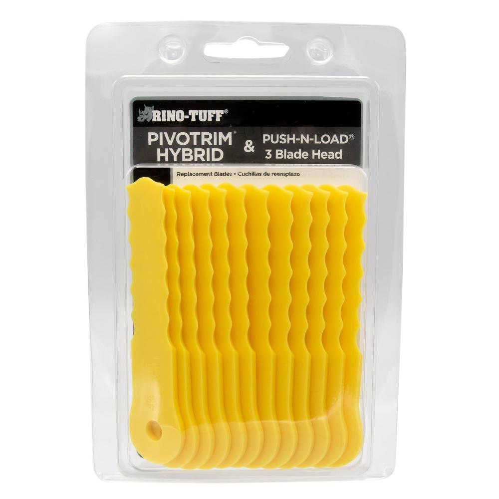 Rino-Tuff Push-N-Load 3-Blade Nylon Replacement Trimmer Blades