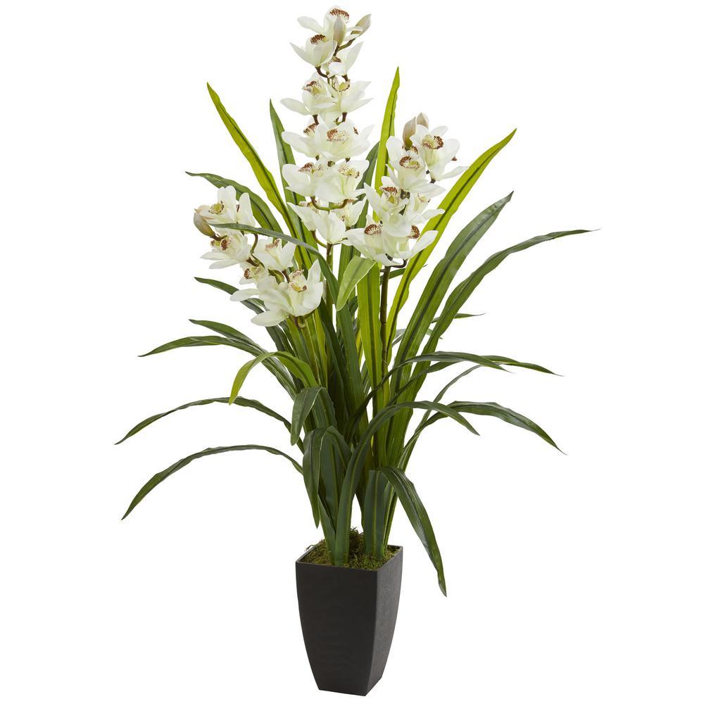 Indoor 45 in. Cymbidium Orchid Artificial Plant