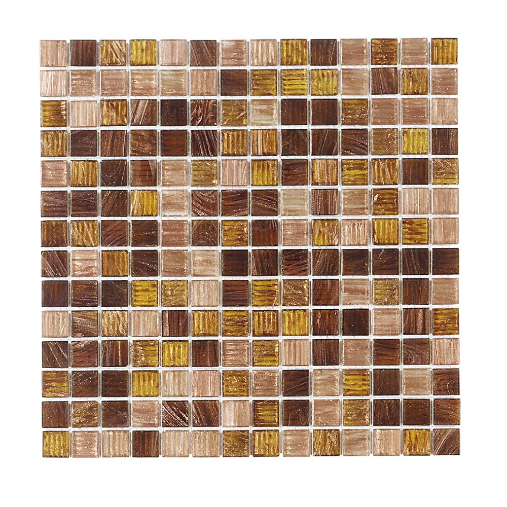 Jeffrey Court Verona 12 in. x 12 in. x 4 mm Glass Mosaic Wall Tile ...