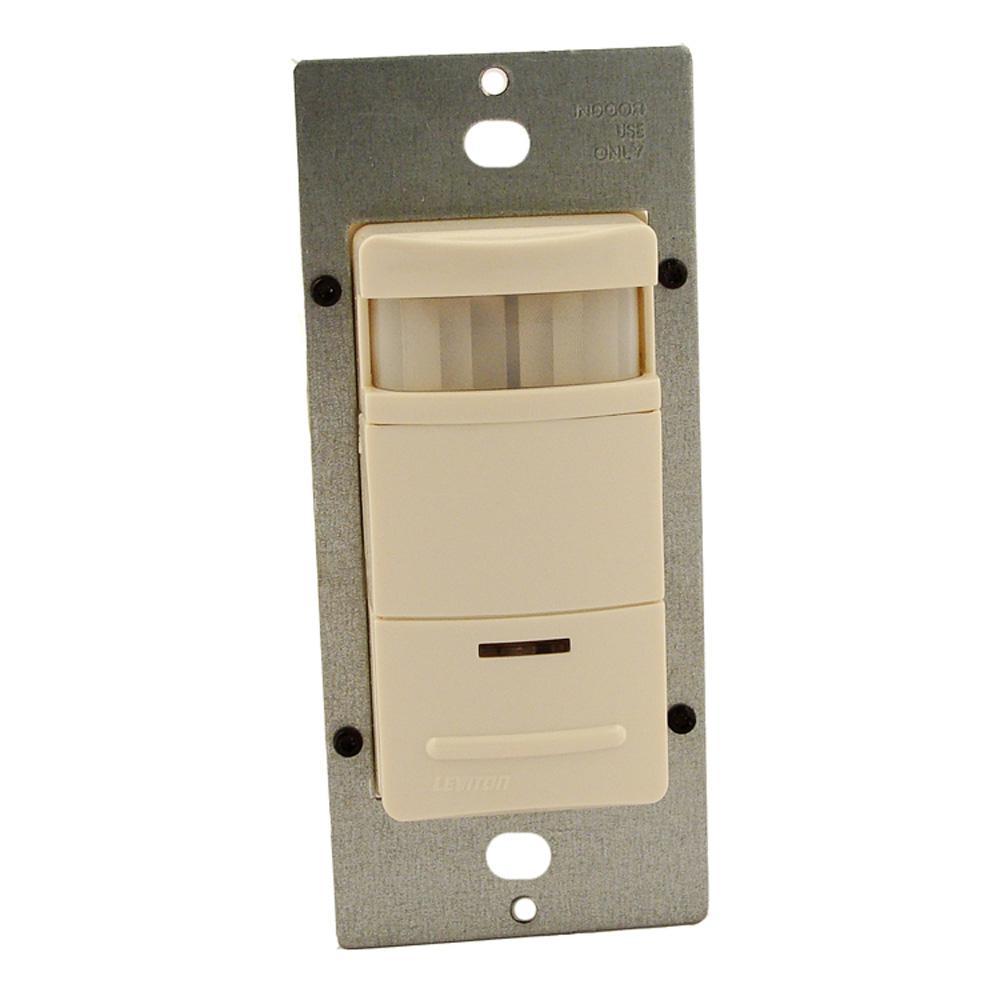 120/277-Volt Single-Pole Occupancy Sensor Wall Switch Passive Infrared, Light Almond