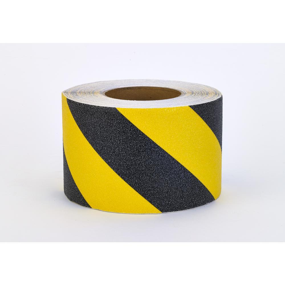 Mutual 2 in. x 20 yds. Non-Skid Hazard Stripe Grip Tape, ...