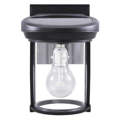 Solar Coach 1-Light Black Outdoor Wall Lantern Sconce