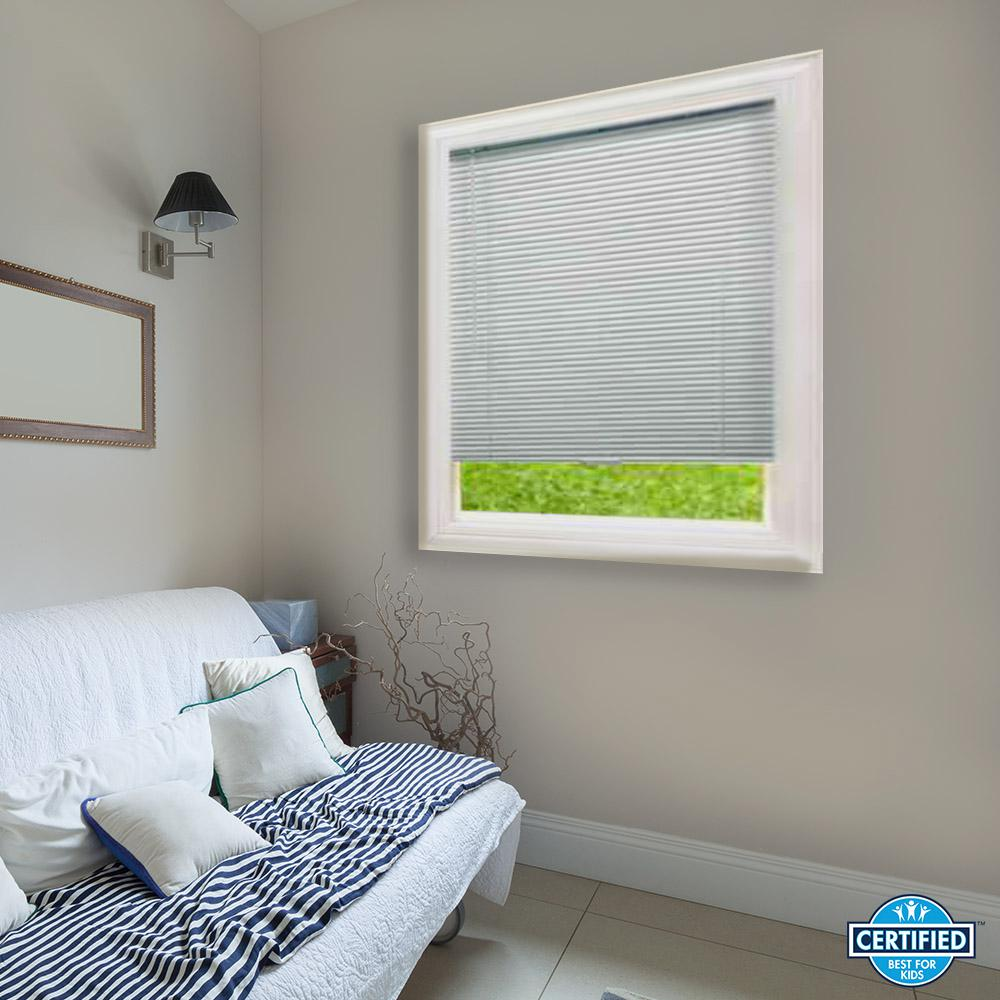 vinyl mini blinds hampton bay white cordless 1 in blackout vinyl mini blind 29411