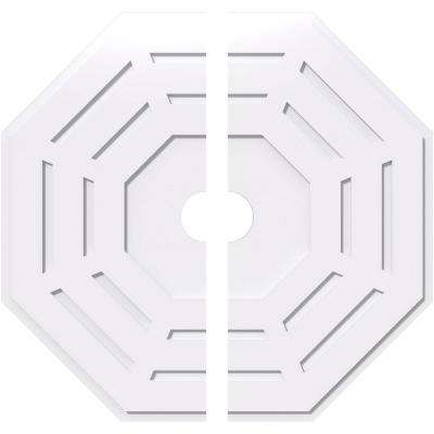 40 in. OD x 5 in. ID x 1 in. P Westin Architectural Grade PVC Contemporary Ceiling Medallion (2-Piece)