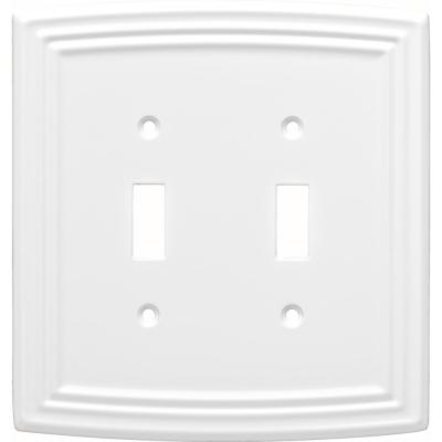 White 2-Gang Toggle Wall Plate (1-Pack)
