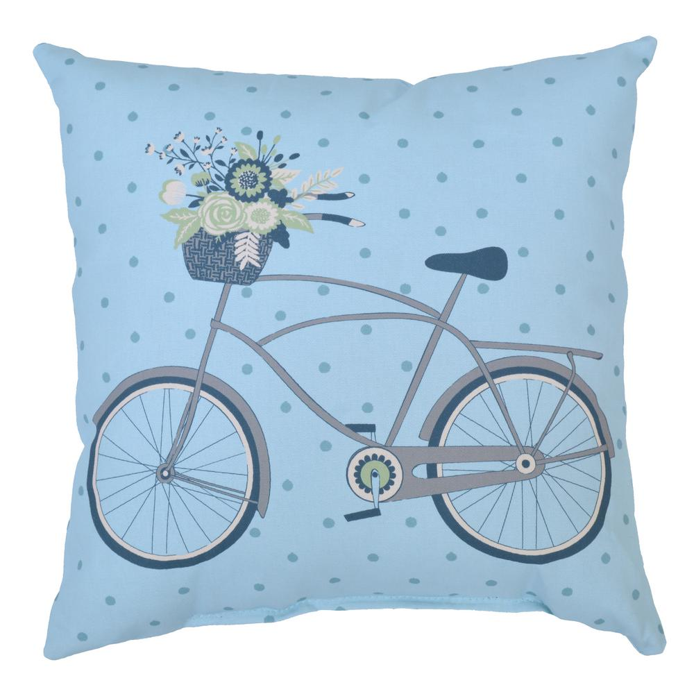 Surplus Bike Square Outdoor Throw Pillow