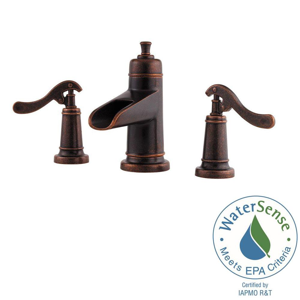 Widespread 2 Handle Bathroom Faucet In Rustic Bronze